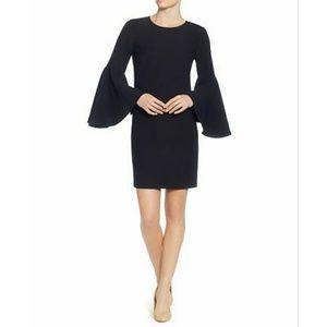 NWT Catherine Malandrino Bell Sleeve Black Dress